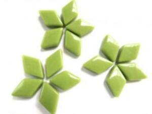 Green Mini Glass Diamonds - Mosaic Tiles Supplies Art Craft