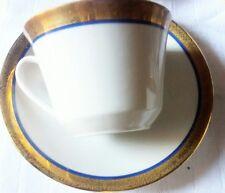 Vintage servizio 12 TAZZE TE' porcellana  BAVARIA FASCIA ORO GOLD  porcelain mug