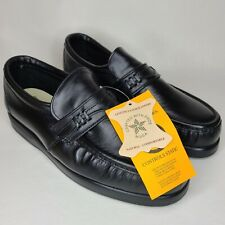Iron Age Steel Toed 8 1/2 W Leather Slip On Work Shoes Made in the USA EC