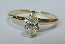 .45 Carat Marquise Shape DIAMOND Engagement Ring in 14K Yellow Gold