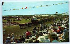 six oxen team pion era Pioneer show parade Saskatoon Canada Postcard B26