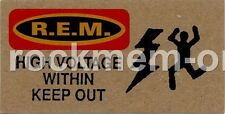 R.E.M. Fanclub card High Voltage Within Keep Out