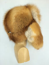 Red Fox Fur Full Hat Ushanka Aviator Fits All