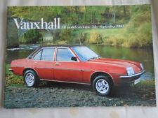 Vauxhall range brochure Jul-Sep 1980 Chevette, Astra Cavalier, Carlton, Royale