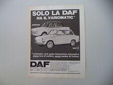 advertising Pubblicità 1967 DAF 44/ DAFFODIL