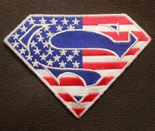 SUPERMAN AMERICAN FLAG ARMY TACTICAL OP ISAF COLOR VELCRO® BRAND FASTENER PATCH