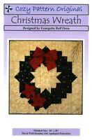 Christmas Wreath quilt pattern - cozy quilt design