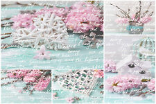 BEAUTIFUL SHABBY CHIC CANVAS PICTURE #9 STUNNING FLORAL HOME DECOR A1 CANVAS