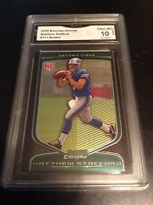 MATTHEW STAFFORD rc ROOKIE 2009 09 chrome GMA graded 10 Lions Card #111