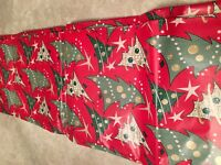 Vintage Christmas Wrapping Paper Retro Art Deco Trees Mid-century style stylized