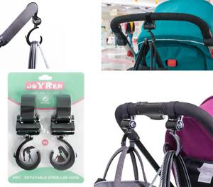 Buggy Clips x2 - Shopping Bag Pram Hooks Mummy Carry Clip Shopping Bag Hook UK