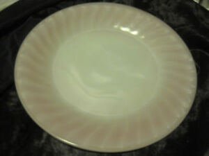 "VTG Fire King Pink Swirl 9"" Dinner Plate"