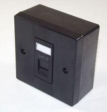 2x BLACK Cat6 RJ45 Single Face Plate & BACK BOX (Ethernet Network wall socket)