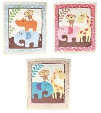 "Soft Animal Safari Sherpa Blanket Baby Girls Boys 30"" x 36"" Luvable Friends"