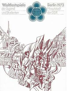 GDR Memorial Sheet World Festival De Youth And Students Berlin Special 1973