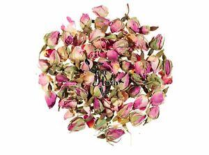 Pink Whole Rose Buds Dried Loose Tea 25g-200g - Rosa Damascena