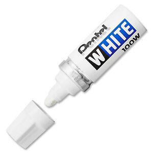 Pentel White 100W Multi-Purpose Permanent Marker Pen - Pack of 3