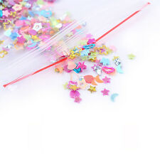 5000Pcs Mixed Glitter Heart Star Flower Sequins Stickers Decals Nail Art DIY 3mm