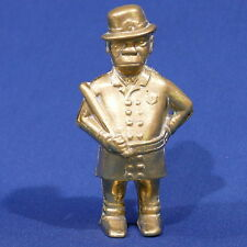Vintage Brass Policeman Bobby With Nightstick Bank ~ Black Americana