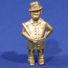 Vintage Brass Policeman Bobby With Nightstick Bank ~ Black Americana