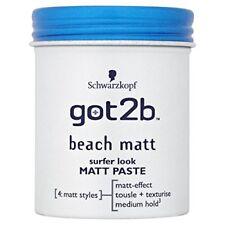 Schwarzkopf got2b Beach Matt Surfer Look Matt Paste 100 ml - Pack of 6