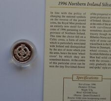 More details for 1996 royal mint northern ireland silver proof one pound £1 coin coa