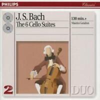 Johann Sebastian Bach : 6 Cello Suites (Gendron) CD 2 discs (1994) ***NEW***