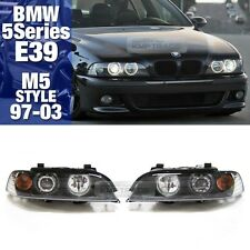 M5 Style Head light Halo Projector Lamp Black Assy For BMW 1997-03 5 Series E39