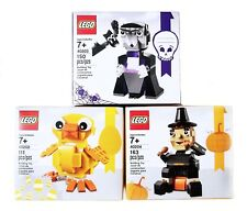 New Lego Seasonal 40202 Easter Chick 40203 Vampire and Bat 40204 Pilgrim's Feast