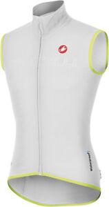 Castelli Fawesome Uomo Gilet Ciclismo Bianco Taglia L, XL