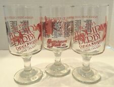 Vintage 1993 Florida Derby Pedestal Drinking Glasses CAPTAIN MORGAN RUM Set of 3