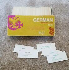 Vintage VIS-ED Learn German w/ Vocabulary Flashcard Set In Original Box 1982