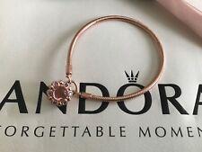 Pandora Rose Gold Radiance Padlock Bracelet, 20cm, BRAND NEW