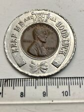"""1938 US Cent in a Good Luck Surround - """"The Flame, Duluth"""" (A890"""