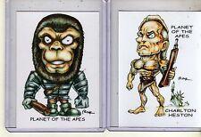 Planet Of The Apes 1968 Movie (2 Cards) Art Prints Charlton Heston Rak