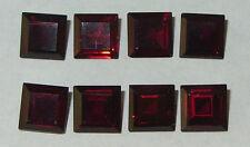8mm Beautiful Mozambique Reddish Garnet Princess Cut