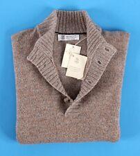 $1925 NWT - BRUNELLO CUCINELLI 100% CASHMERE 4 BUTTON Melange Sweater - 50 M