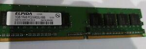 1GB DDR2 Desktop RAM  EBE10UE8ACWA-8G-E  1RX8 PC2-6400U-666 12-D0