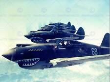 Formazione di volo JET FIGHTER AIR FORCE Dente di Squalo USA art print poster bb10549
