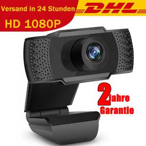 1080P HD Webcam HD Kamera USB 2.0 Camera Mit Mikrofon für Desktop Laptop PC DE