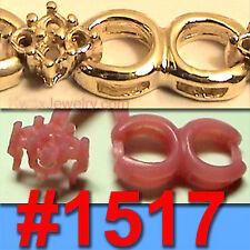 # 1517 60 WAX PATTERNS TENNIS BRACELET JEWELRY CASTING Rubber Molds VULCANIZER