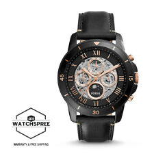 Fossil Men's Grant Sport Automatic Black Leather Watch ME3138