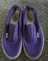 Vans No Lace Unisex Purple Canvas Sneakers Shoes/Men's 6/Women's 7.5 Slip On