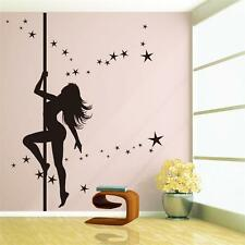Large Pole Dancing Sexy Girl Removable Vinyl Art Decal Wall Sticker Decor Mural