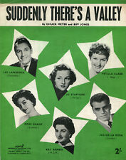 1955 hoja de música: de repente hay un Valle: como realizados con Petula Clark