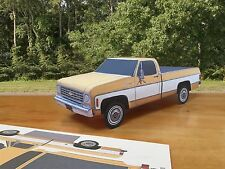 Papercraft 1975 Chevrolet Silverado 2 tone pickup truck Paper Model Car EZU-make