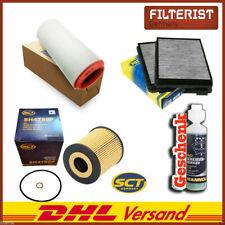 Inspektionspaket Innenraumfilter Aktivkohle BMW 5er E39+Luftfilter+Ölfilter+GES