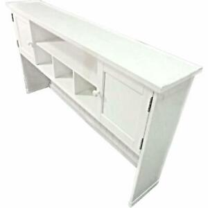 Mid Century Modern White Painted Console Cabinet Credenza Table Buffer Sideboard