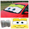 Foldable Big Eyes Graphics Car Front Windshield Cover Sun Shade Visor Protector