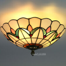 Tiffany Style Vintage Light Stained Glass Classical Ceiling Lighting Fixture W